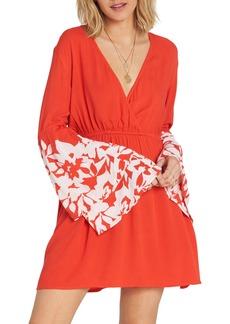 Billabong Night Fever Bell Sleeve Dress