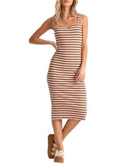 Billabong Night Magic Stripe Rib Tank Dress