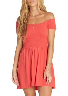 Billabong Off Beach Off the Shoulder Babydoll Dress