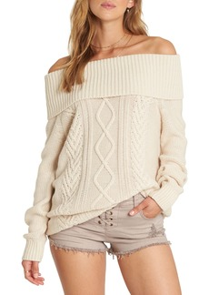 Billabong Off Shore Off the Shoulder Sweater