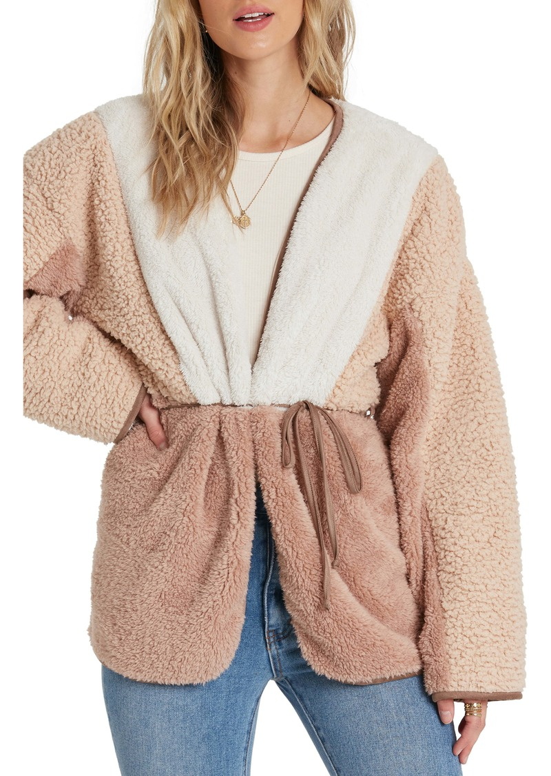 Billabong Polar Opposite Belted Faux Fur Jacket