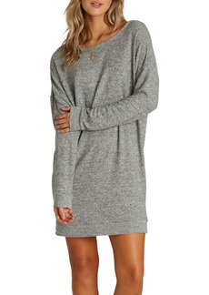 Billabong Reset Button Long Sleeve Sweater Dress