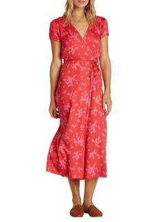 Billabong Right Timing Midi Wrap Dress