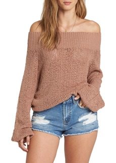 Billabong Rolled Up Off the Shoulder Sweater