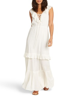 Billabong Romance Row Ruffle Tier Maxi Dress