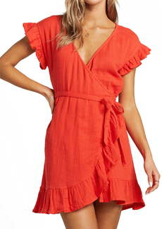 Billabong Ruffle Wrap Minidress