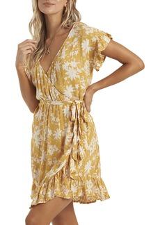 Billabong Ruffle Wrap Minidress