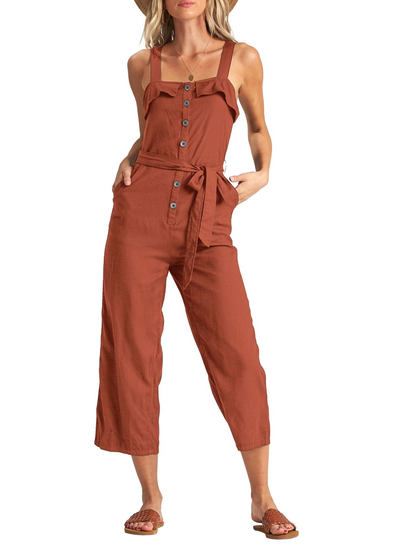 Billabong Sandy Toes Wide Leg Crop Jumpsuit