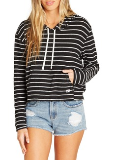 Billabong Saturday Dreams Stripe Crop Hooded Top