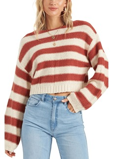Billabong Seeing Stripes Boat Neck Cotton Sweater