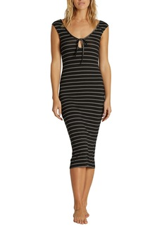 Billabong Share Alike Stripe Midi Dress