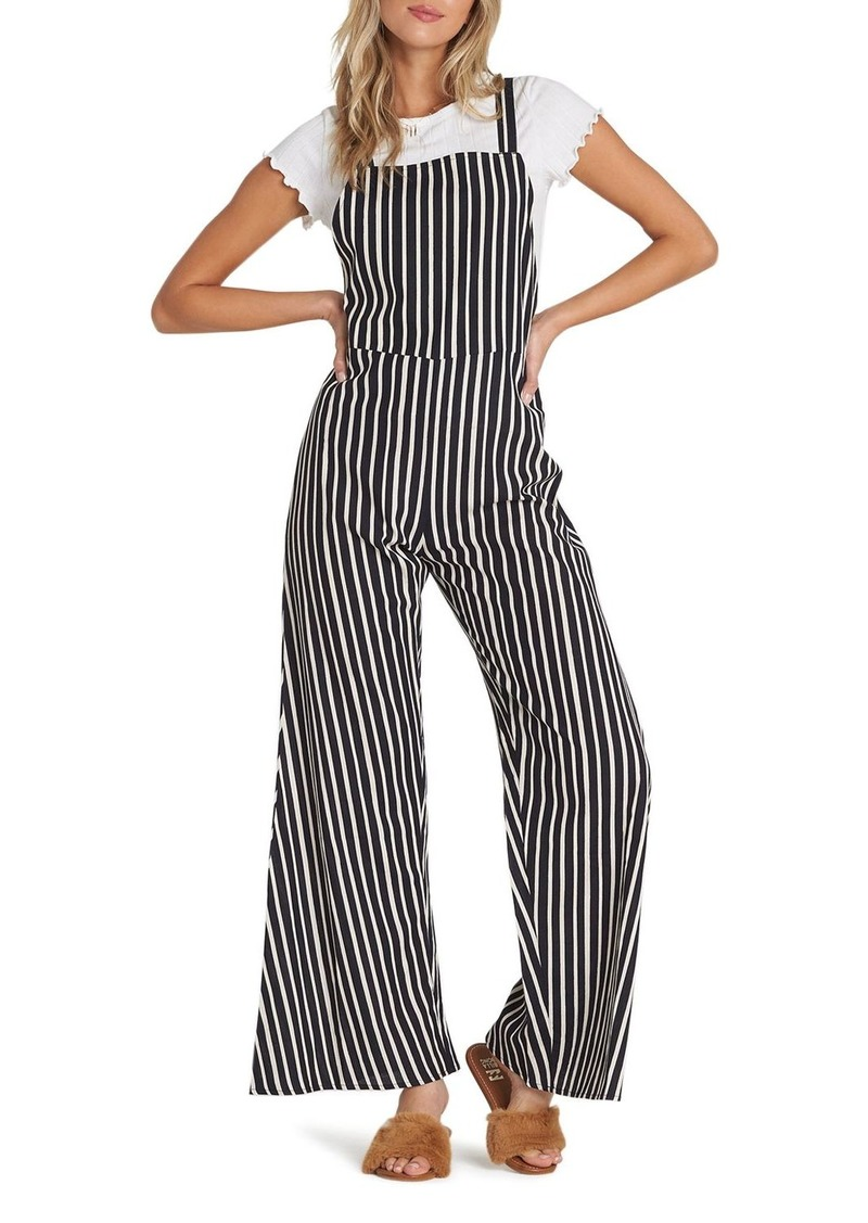 Billabong Still Here Striped Jumpsuit