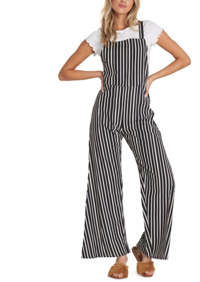 Billabong Still Here Striped Overalls