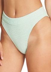 Billabong Summer Hi Maui Rider Textured High-Cut Bikini Bottom