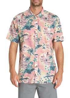 Billabong Sundays Floral Print Short Sleeve Woven Shirt
