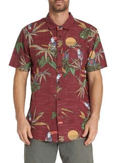 Billabong Sundays Floral Print Short Sleeve Woven Shirt