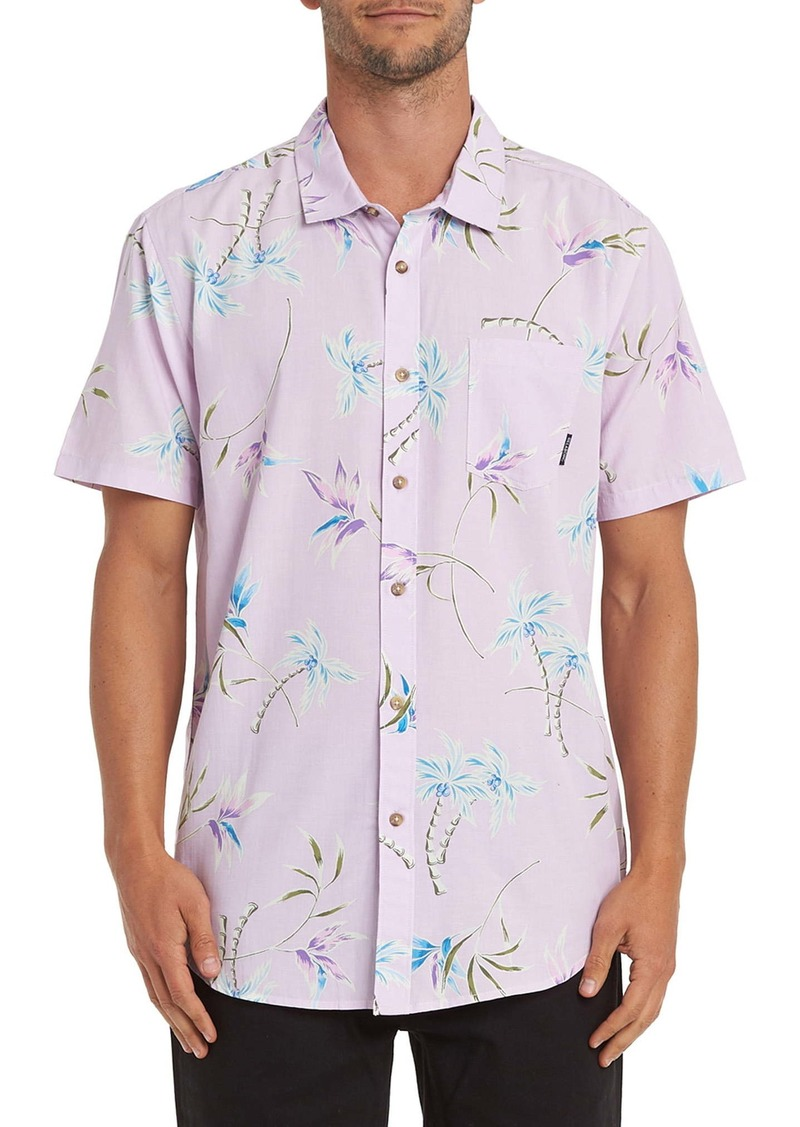 Billabong Sundays Floral Short Sleeve Button-Up Shirt