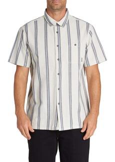 Billabong Sundays Jacquard Stripe Short Sleeve Button-Up Shirt