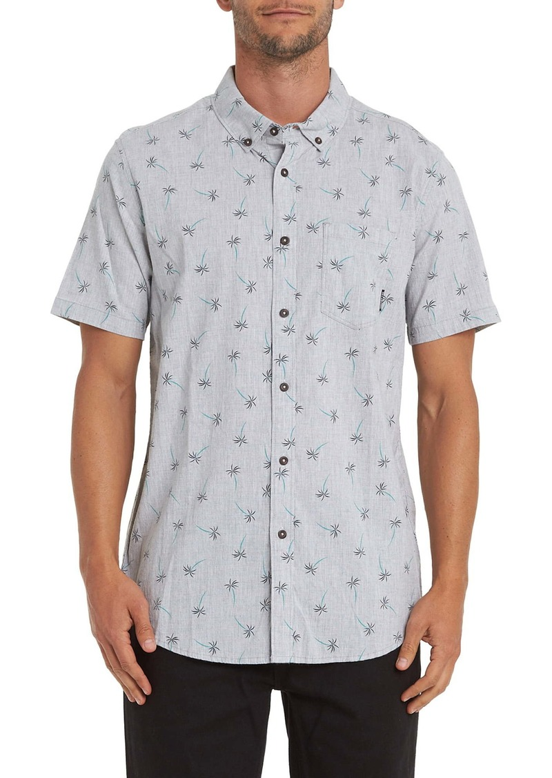 Billabong Sundays Print Short Sleeve Button-Down Shirt