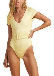 Billabong x The Salty Blonde Sundipped Cap Sleeve One-Piece Swimsuit