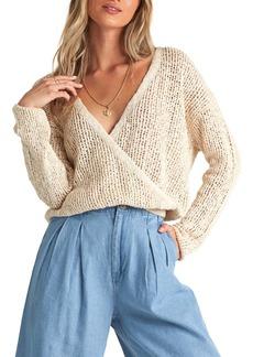 Billabong Sweet Bliss Wrap Front Sweater