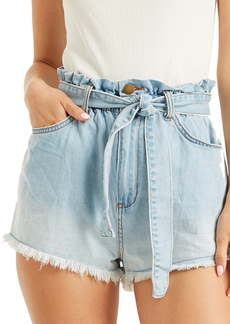 Billabong Take a Walk Denim Paperbag Waist Shorts