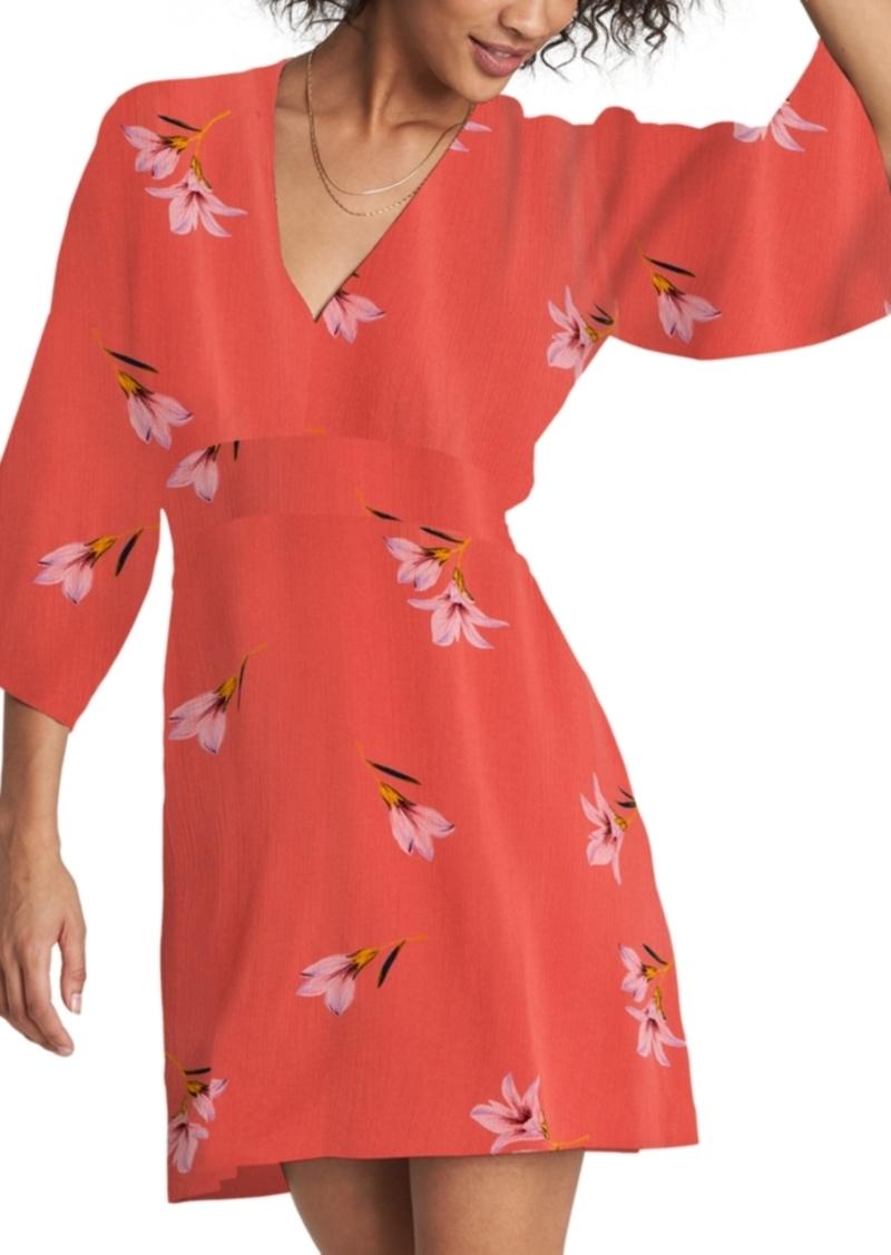 Billabong Take The Plunge Printed Mini Dress