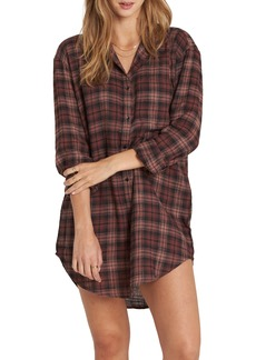 Billabong Tales of Winter Plaid Shirtdress
