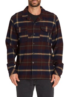 Billabong The Point Plaid Flannel Shirt Jacket