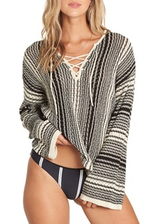 Billabong Tidal Waves Lace-Up Sweater