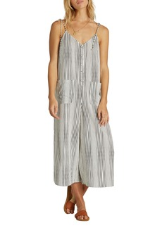 Billabong Tied Up Wide Leg Crop Jumpsuit
