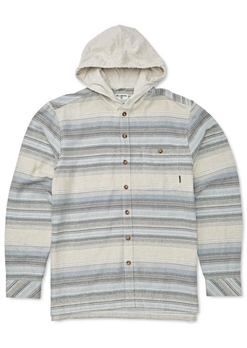 Billabong Toddler & Little Boys Baja Hooded Flannel Shirt