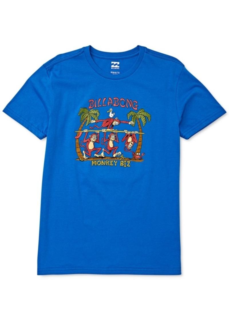 Billabong Toddler & Little Boys Monkey Biz-Print Cotton T-Shirt
