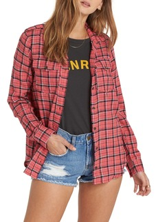 Billabong Venture Out Plaid Top
