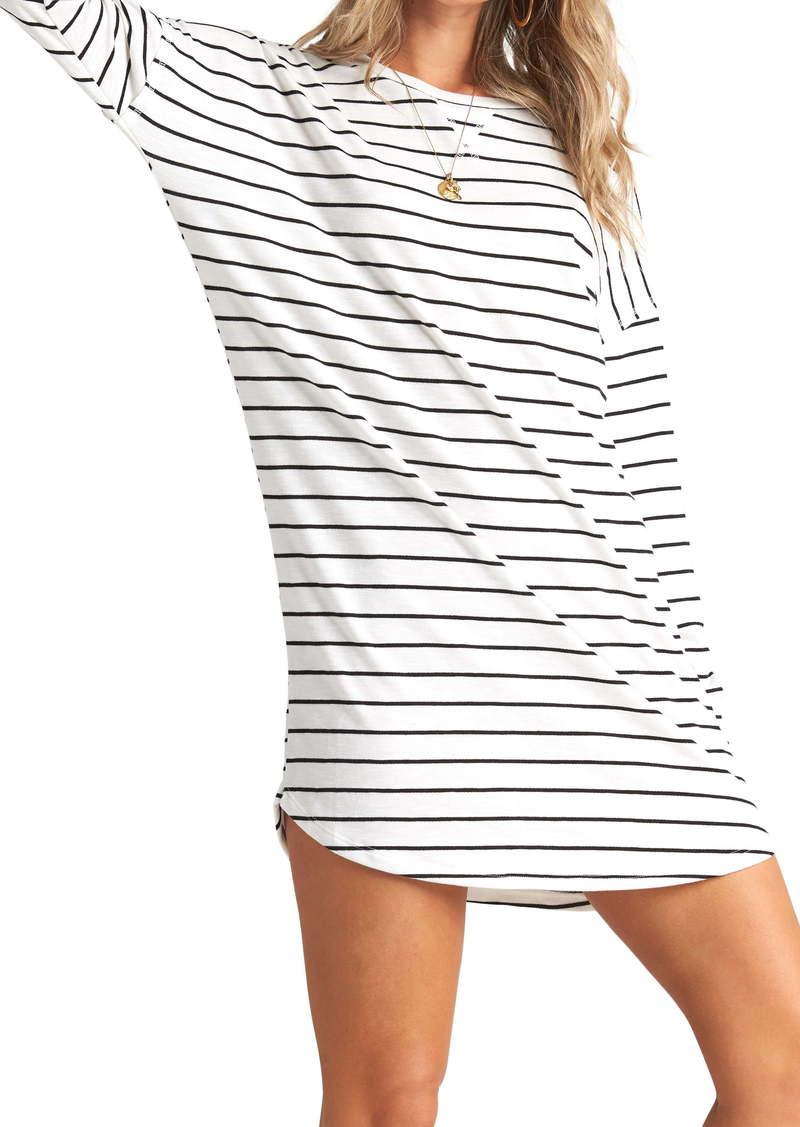 Billabong Weekend Bliss Stripe Long Sleeve T-Shirt Dress