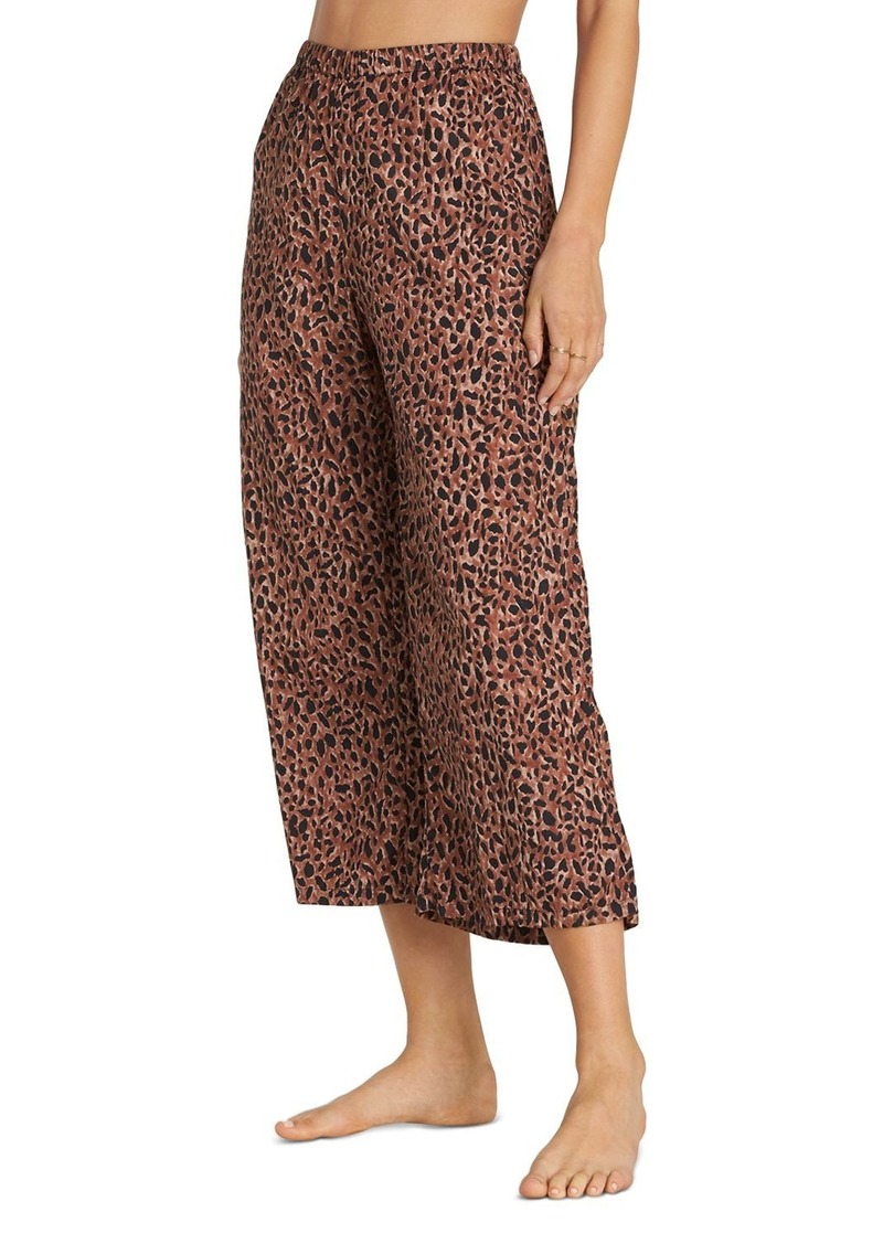 Billabong Wild Heartbeats Cheetah-Print Pants