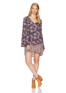 Billabong Women's Basking Sun Woven Printed Dress  S