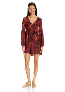 Billabong Women's Clearest Melody Long Sleeve Printed Dress  M