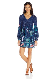 Billabong Junior's Clearest Melody Long Sleeve Printed Dress  S