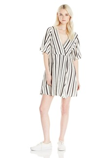 Billabong Junior's Dolly Flutter Sleeve Woven Dress  M