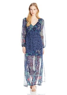 Billabong Women's Dreaming Away Printed Maxi Dress  M