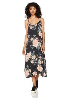 Billabong Women's Dreamy Garden Printed Woven Slip Dress  L