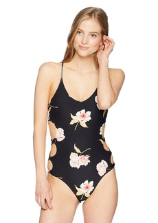 Billabong Women's Floral Dawn One Piece Swimsuit  M