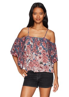 Billabong Women's Forever Printed Woven Top  L