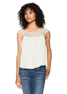 Billabong Women's Get Together Crochet Detail Knit Top  L