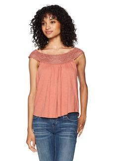 Billabong Women's Get Together Crochet Detail Knit Top  S