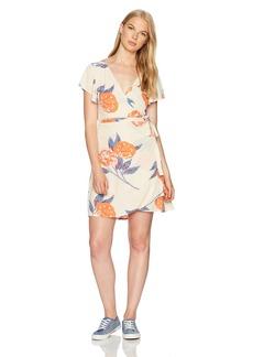 Billabong Women's Hold Me Tight Woven Printed Wrap Dress  S