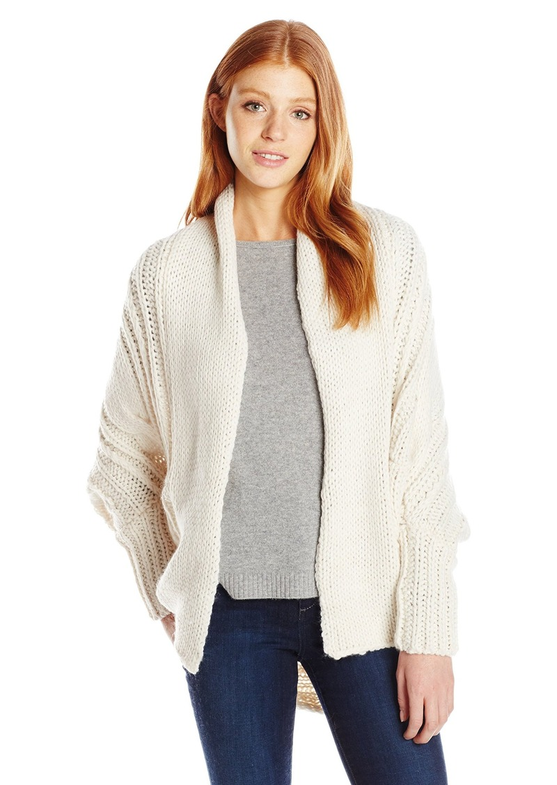Billabong Junior's Icy Sands Chunky Coccoon Cardigan Sweater  L