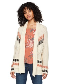 Billabong Women's in Stitches Cardigan Sweater  L