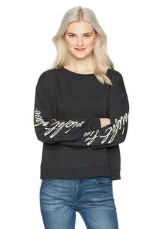 Billabong Women's Its Time Long Sleeve Pullover Crew Sweatshirt  S